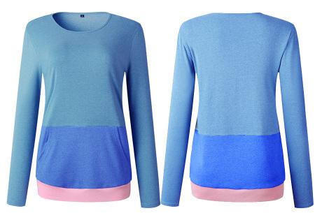 Colorful sweatshirt | Kleurrijke dames tops nu in de aanbieding Groen