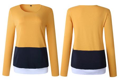 Colorful sweatshirt | Kleurrijke dames tops nu in de aanbieding Geel