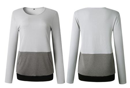 Colorful sweatshirt | Kleurrijke dames tops nu in de aanbieding Grijs