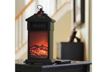 Sfeerhaard lantaarn met heater | Warmte en sfeer in elke gewenste ruimte