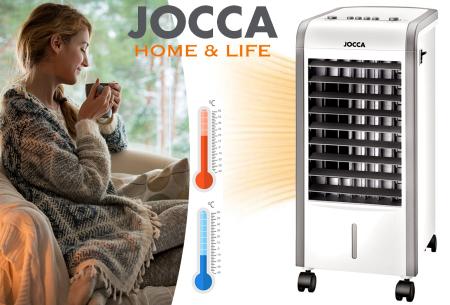 Jocca mobiele heater & aircooler nu in de aanbieding met mega korting