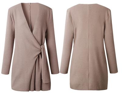 Overslag dames vest | Comfortabel en chique in één  Khaki