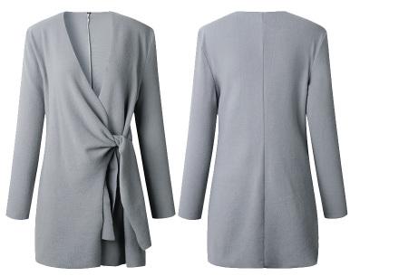 Overslag dames vest | Comfortabel en chique in één  Grijs