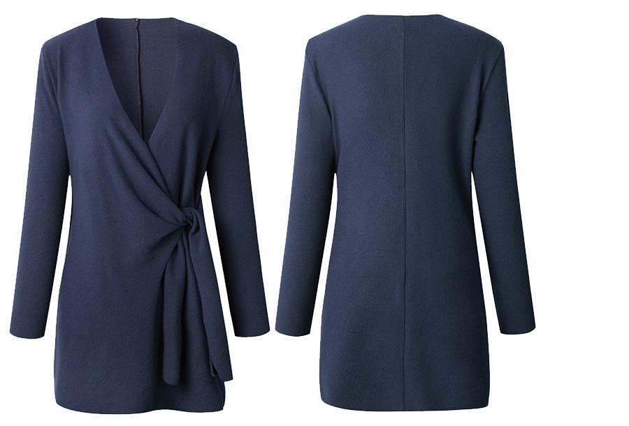 Dames overslagvest Maat XL - Blauw