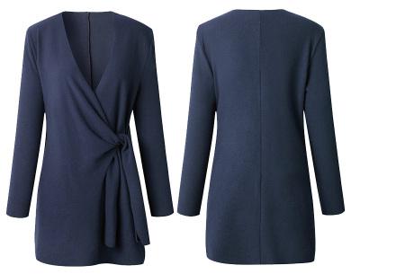 Overslag dames vest | Comfortabel en chique in één  Blauw