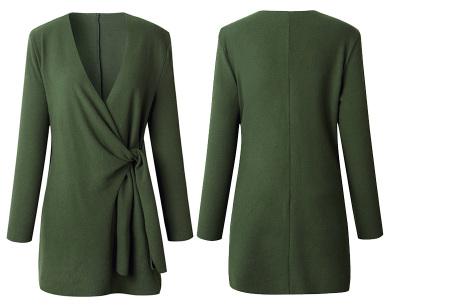 Overslag dames vest | Comfortabel en chique in één  Legergroen