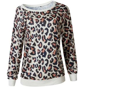 Panterprint sweater   Hippe en trendy dames sweater #1 coffee