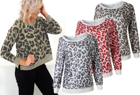 Panterprint sweater dames