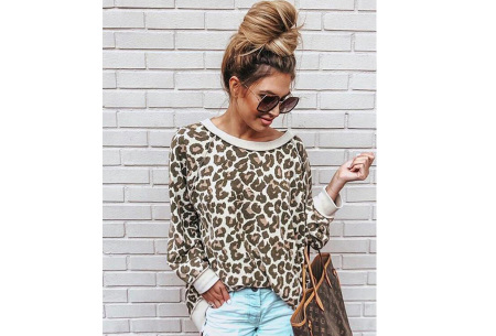Panterprint sweater | Hippe en trendy dames sweater