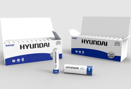 Hyundai 60-pack batterijen AA of AAA | Super Alkaline voor een extra lange levensduur