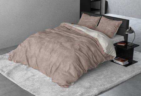 Flanellen dekbedovertrek van Sleeptime | Houdt jou warm tijdens de koude nachten Twin washed - taupe