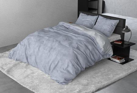 Flanellen dekbedovertrek van Sleeptime | Houdt jou warm tijdens de koude nachten Twin washed - blue