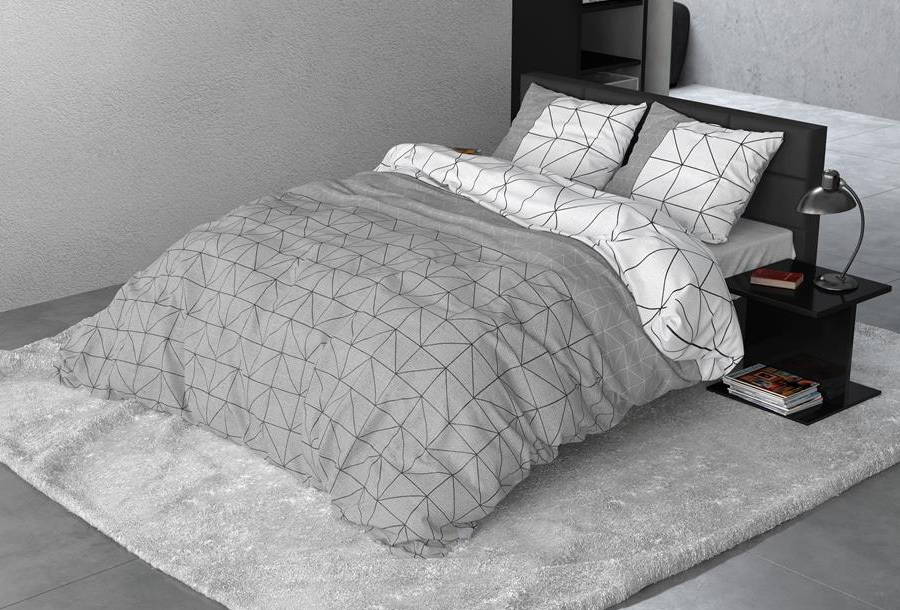 Flanel dekbedovertrek Maat 240 x 200/220 cm - Gino Grey