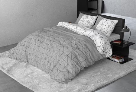 Flanellen dekbedovertrek van Sleeptime | Houdt jou warm tijdens de koude nachten Gino - grey