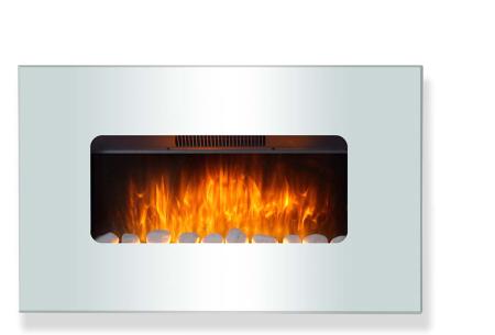 Moa elektrische sfeerhaard in 5 uitvoeringen | Breng sfeer en warmte in je interieur! Wit