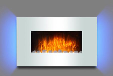 Moa elektrische sfeerhaard in 5 uitvoeringen | Breng sfeer en warmte in je interieur! Wit Ambiante Light