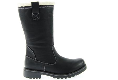 Gevoerde teddy boots | Hippe winterlaarzen met heerlijk warme binnenvoering zwart