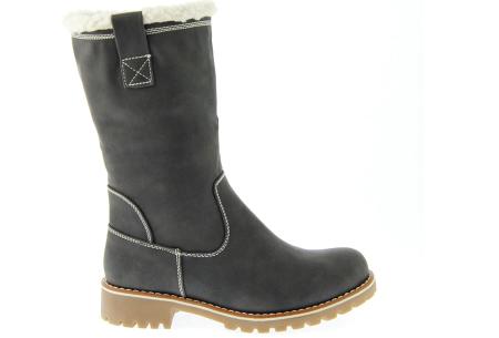 Gevoerde teddy boots | Hippe winterlaarzen met heerlijk warme binnenvoering grijs