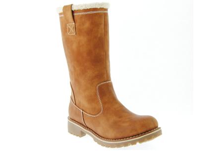 Gevoerde teddy boots | Hippe winterlaarzen met heerlijk warme binnenvoering camel