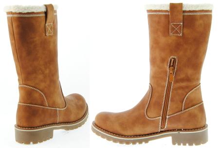 Gevoerde teddy boots | Hippe winterlaarzen met heerlijk warme binnenvoering