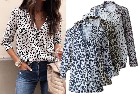 Dierenprint blouse nu met hoge korting in de sale