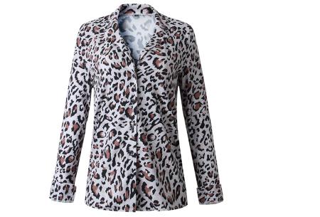 Dierenprint blouse | Trendy dames blouse voor een stijlvolle look B