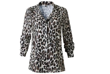 Dierenprint blouse | Trendy dames blouse voor een stijlvolle look D