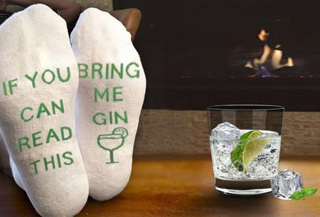 Bring me Gin sokken | Grappige sokken voor de echte Gin liefhebbers