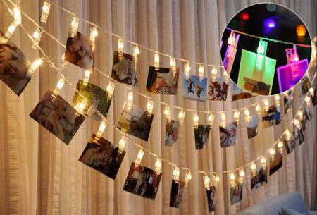 LED lichtslinger voor foto's of kerstkaarten nu met korting