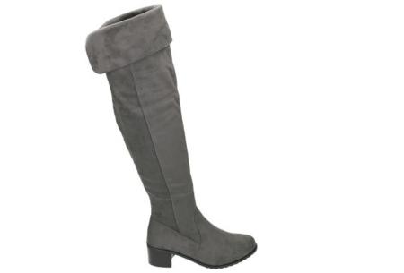 Overknee laarzen | Steel de show met deze hippe hoge boots! grijs