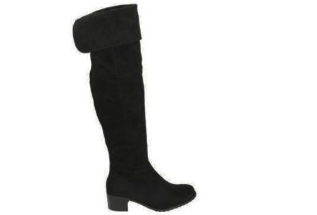 Overknee laarzen | Steel de show met deze hippe hoge boots! zwart