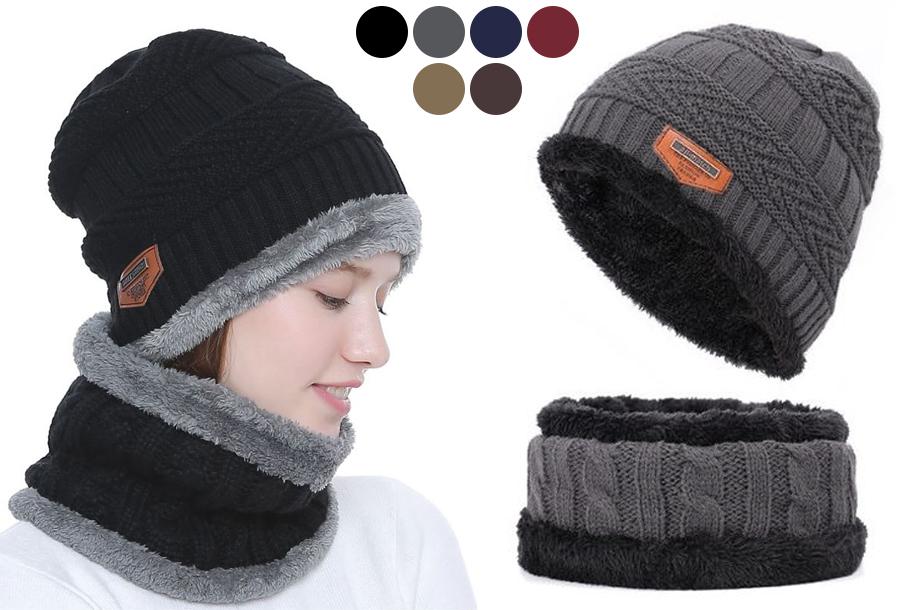 Fleece muts met of zonder bijpassende fleece sjaal