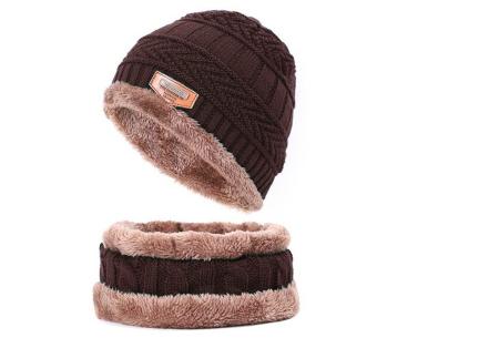 Fleece muts met of zonder bijpassende fleece sjaal | Met warme fleece binnenzijde coffee
