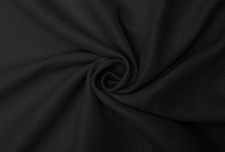Larson hotelkwaliteit verduisterende gordijnen | Visgraat motief gordijnen voor een mooie prijs Zwart
