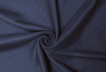 Larson hotelkwaliteit verduisterende gordijnen | Visgraat motief gordijnen voor een mooie prijs Marine Blauw