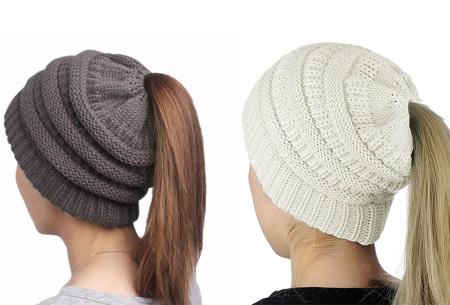 High ponytail muts | Dé musthave winter accessoire voor dames met lang haar