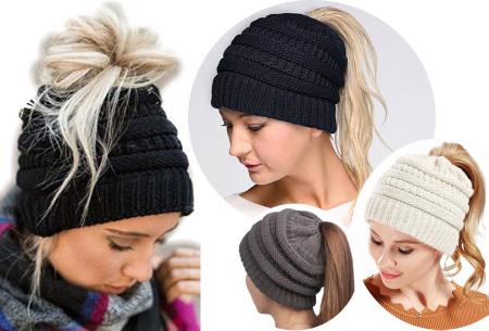 High ponytail muts - trendy dames muts met korting