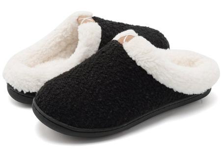 Memory foam sloffen | Comfortabel en heerlijk warm Zwart