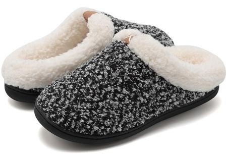 Memory foam sloffen | Comfortabel en heerlijk warm Zwart/wit