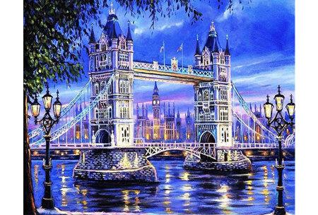 Diamond painting in 8 uitvoeringen | Ontspannende doe-het-zelf rage! #6 Londen