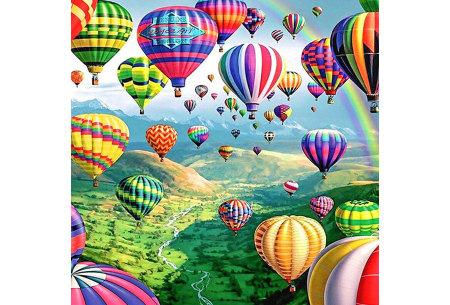 Diamond painting in 8 uitvoeringen | Ontspannende doe-het-zelf rage! #2 Luchtballon