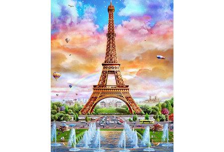 Diamond painting in 8 uitvoeringen | Ontspannende doe-het-zelf rage! #4 Parijs - 2