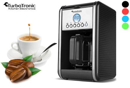 Turbotronic koffiezetapparaat | Genieten van warme verse koffie wanneer jij dat wilt