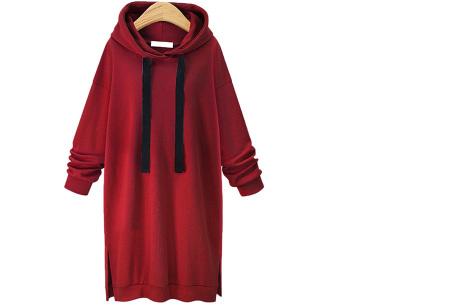 Comfy Long Sweater | Een heerlijk lange dames trui voor jong en oud Wijnrood