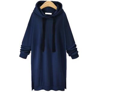 Comfy Long Sweater | Een heerlijk lange dames trui voor jong en oud Navy