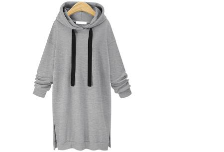 Comfy Long Sweater | Een heerlijk lange dames trui voor jong en oud Grijs