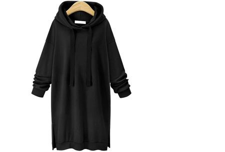 Comfy Long Sweater | Een heerlijk lange dames trui voor jong en oud Zwart