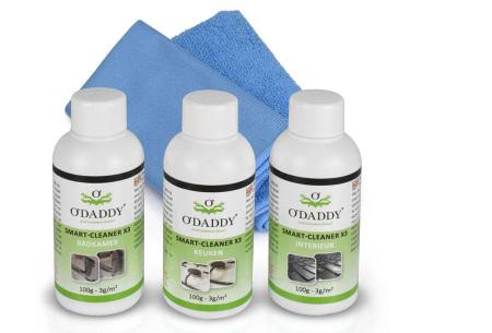 O'Daddy professionele Nano schoonmaakmiddelen | 100% water- en vuilafstotend X3