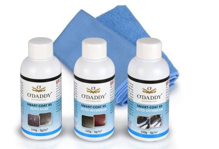 O'Daddy professionele Nano schoonmaakmiddelen | 100% water- en vuilafstotend X5