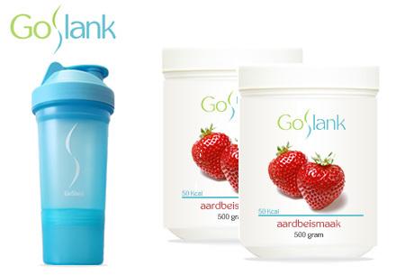 GoSlank afslankshakes voor 1 maand | Snel en op een gezonde manier afvallen! + GRATIS extra's Aardbei